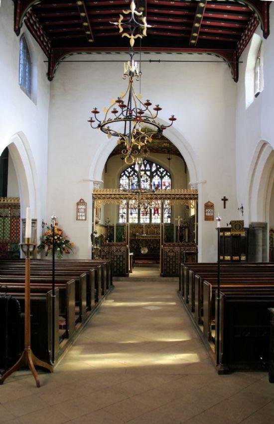 The interior of Plumtree Church