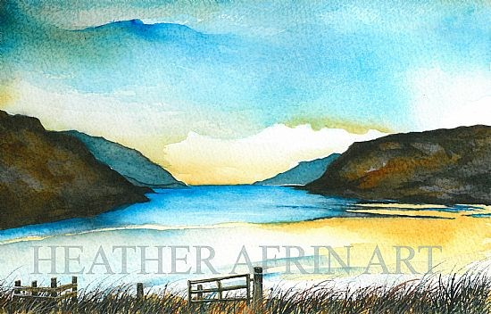 SOLD - Loch Seaforth Original watercolour
