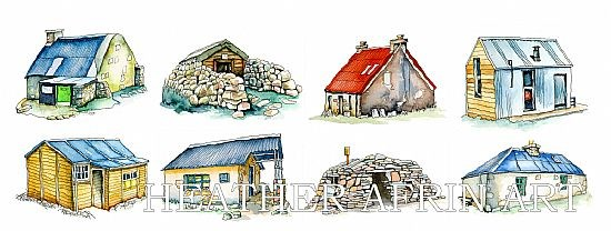 Highland Bothies medley print