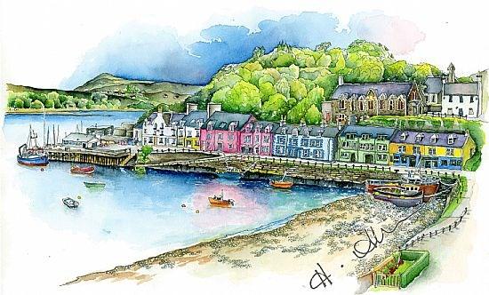 Portree Harbour print