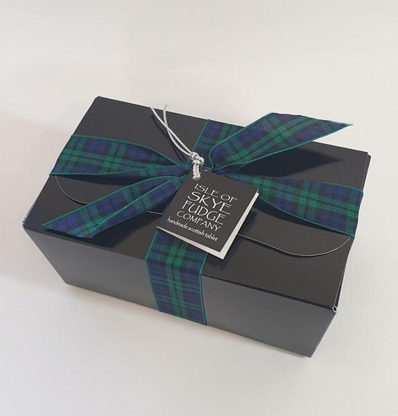 400g BLACK Gift Box/Tartan