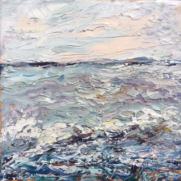 A Frothy Sea 43x43cm, reserved for exhibition