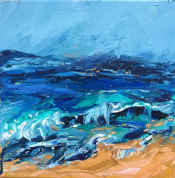 Green Tide 43x43cm, reserved for exhibition