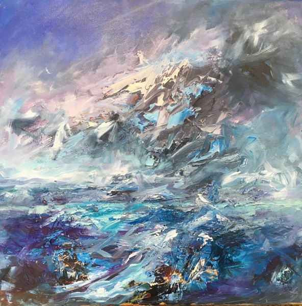 Passing Squall 65x65cm, Aberdeen Artists Exhibition online from 11 June