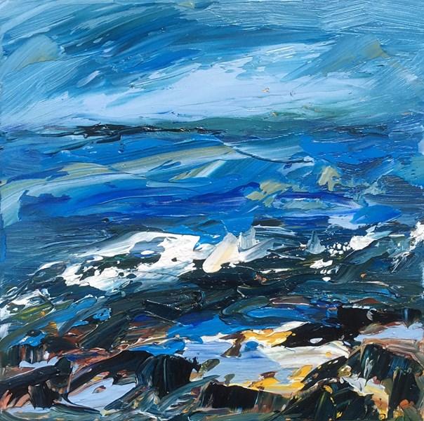 Rock Pools 43x43cm, Holroyd Gallery
