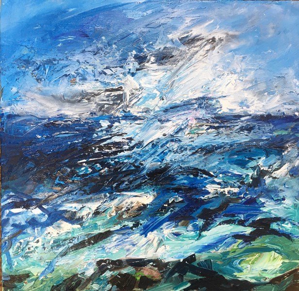 Spring Waters 55x55cm, reserved for exhibition