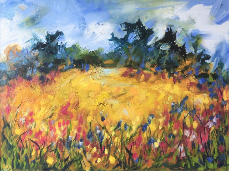 Field in Late Summer 75x60cm, Holroyd Gallery