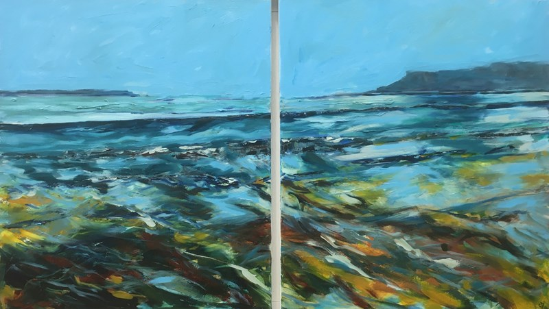 Spirit of Dunnet Bay 130x75cm diptych, available