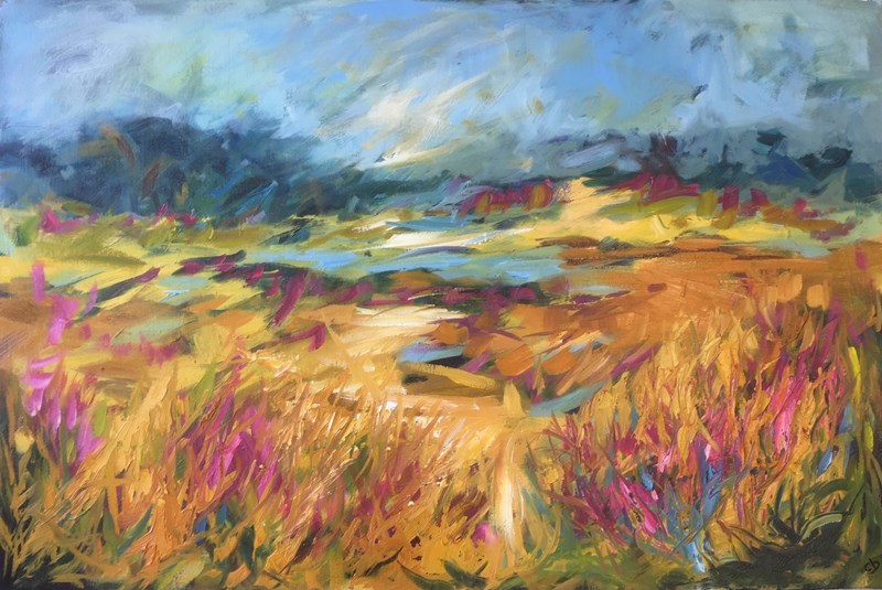 August Willow Herb 81x55 SOLD