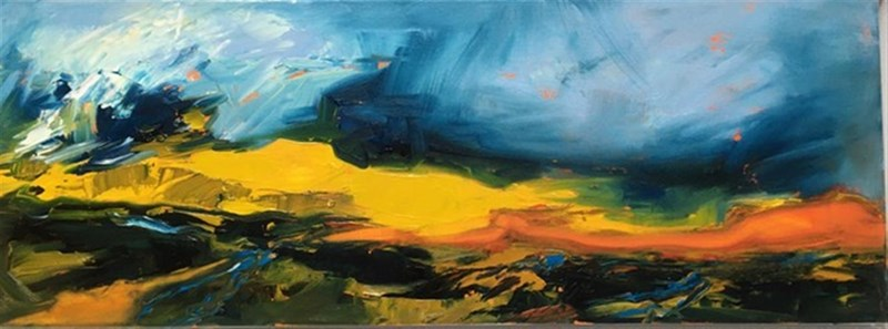 Summer Evening 85x35cm, Solo Gallery, Innerleithen