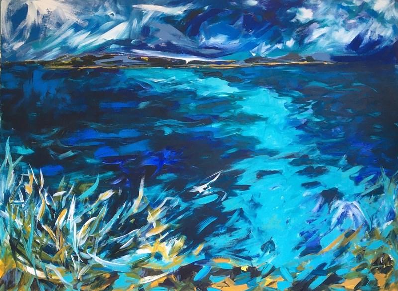 Blue Nightfall 123x91cm, unframed deep camvas