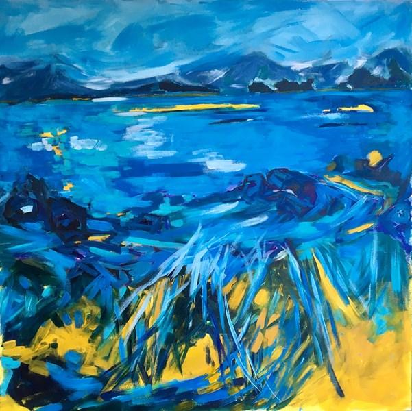 Secret Shore, Isle of Skye 105x105cm