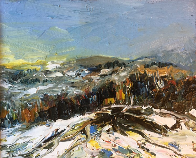 Snow above Beauly, 30x25 SOLD