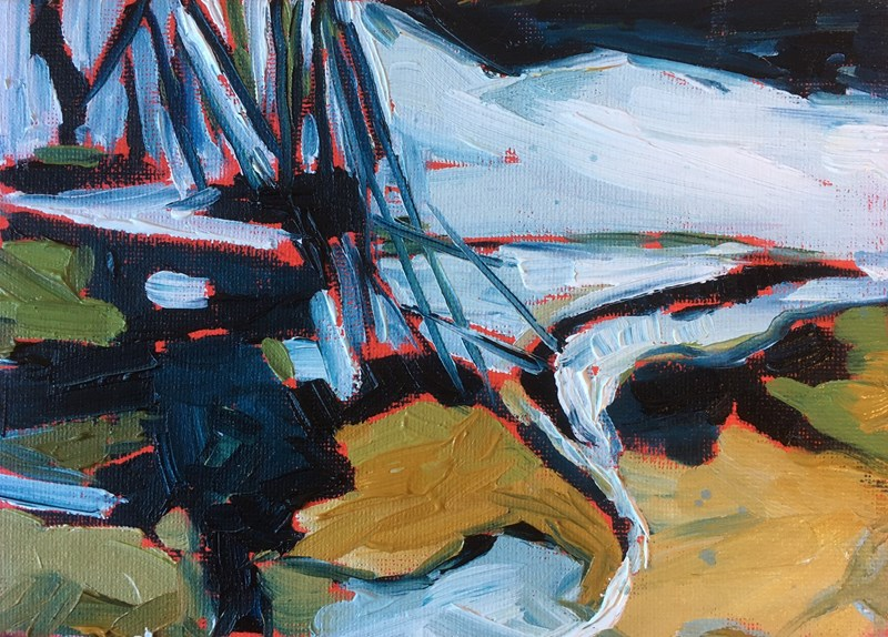 Icy River 28x22 cm