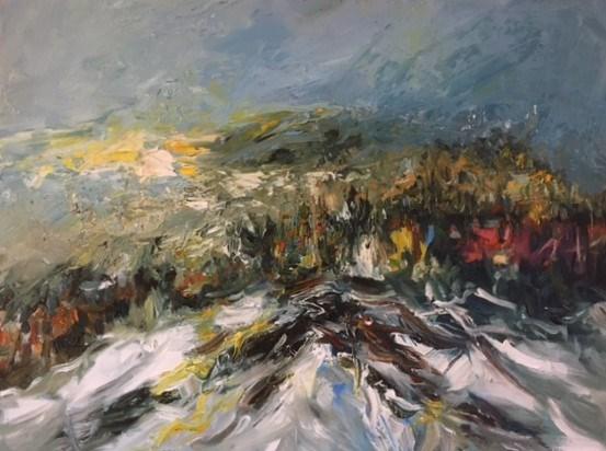 A Winter Dusk 75x60 cm, Aberfeldy Gallery
