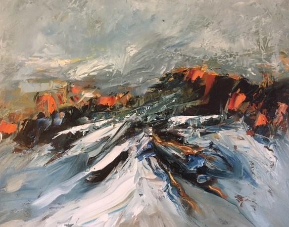 Snow Line 57x47 cm, Aberfeldy Gallery