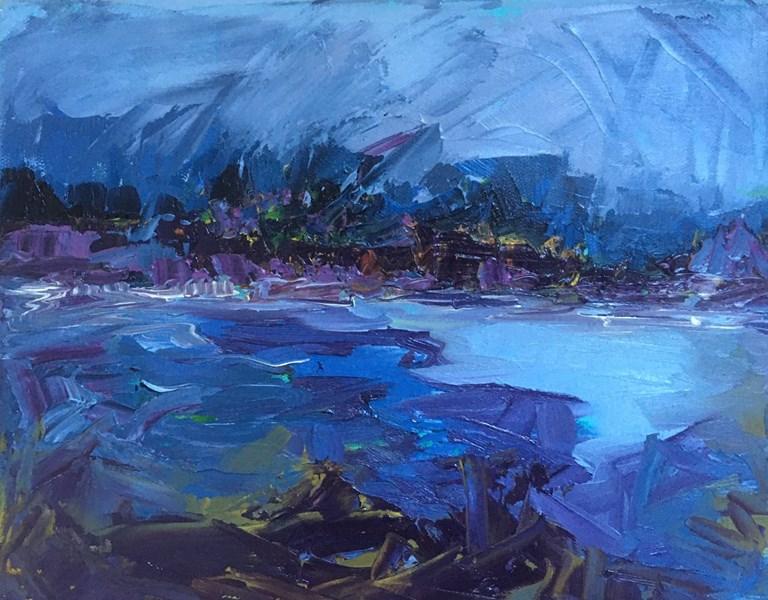 Mountains under Mist 40x35cm, Hatton House Gallery, Dunkeld