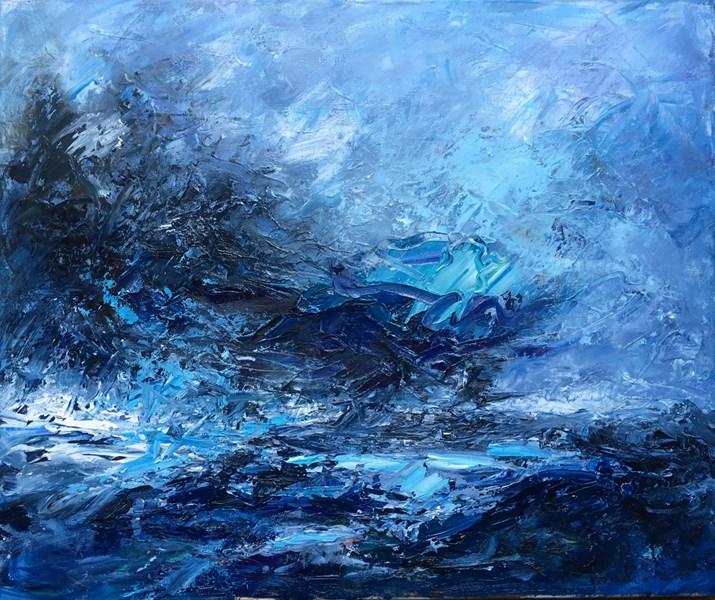 Blue Day 75x65 cm