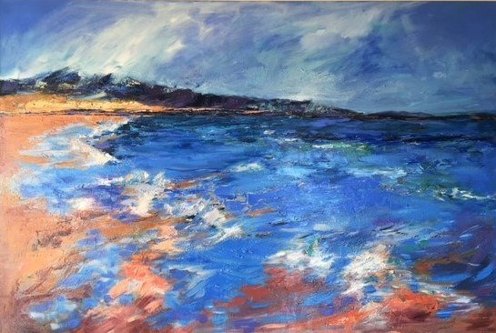 Into the Blue 160x100 cm, Coul House Hotel, Contin