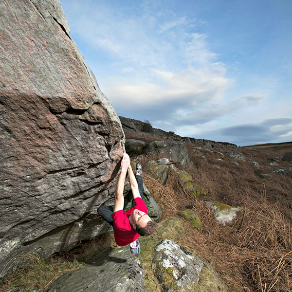 Outdoor bouldering coaching (4 hour session) in Northumberland