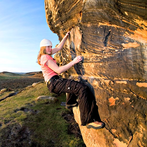 Outdoor bouldering essentials (3 hour session) in Northumberland