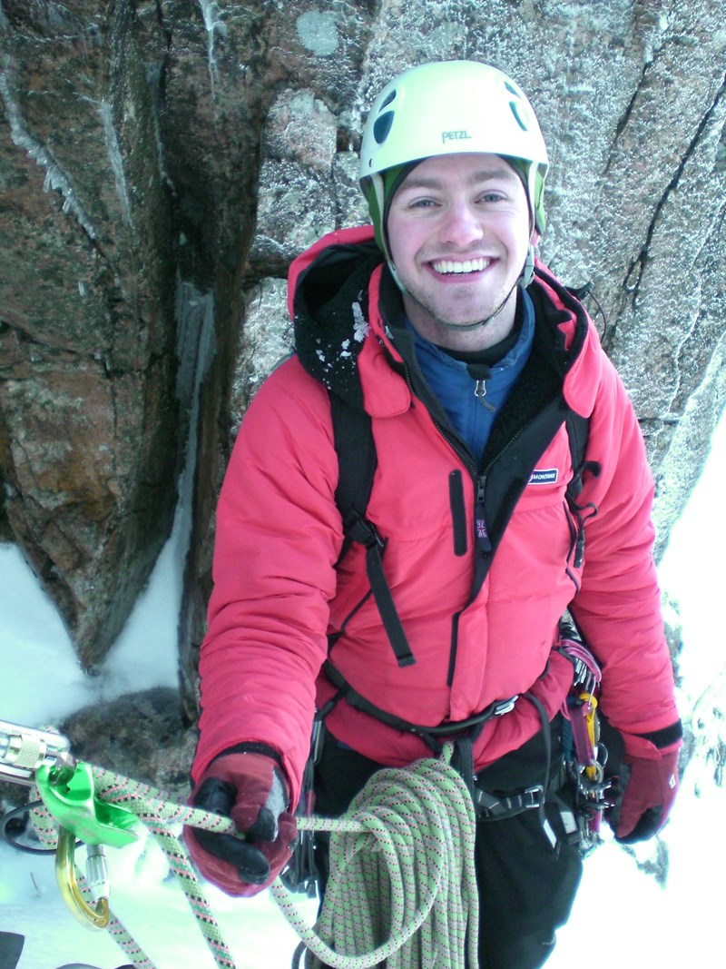 Using the Montane Extreme Jacket whilst winter climbing on Great End