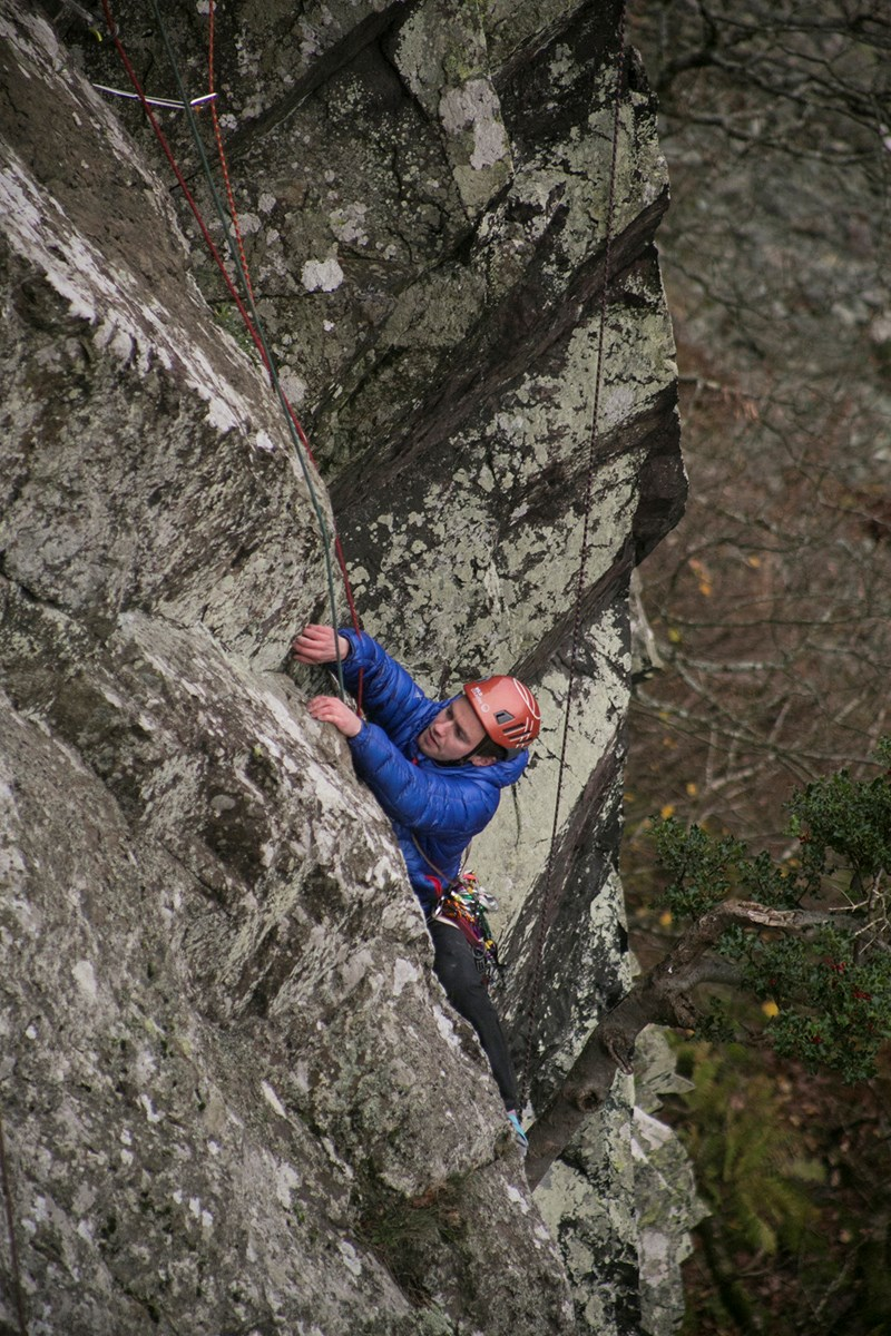 Using the Wild Country Rock Lite Helmet whilst climbing at Shepherd's Crag