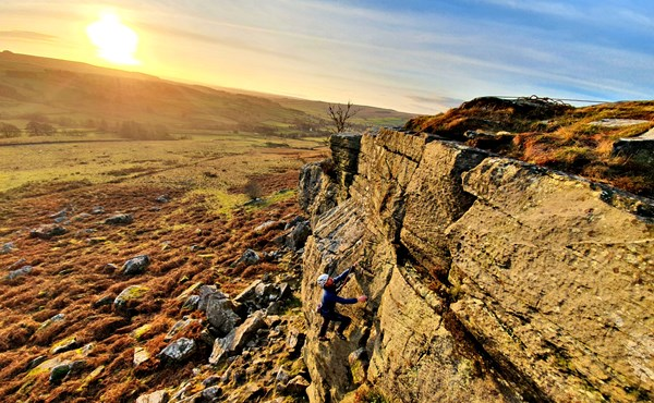 Outdoor climbing taster (3 hour session) in Northumberland
