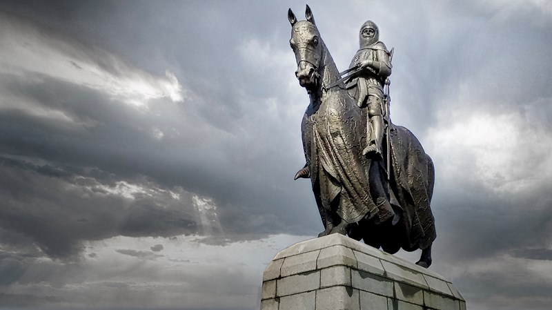 Equestrian statue of King Robert I at Bannockburn, Stirlingshire