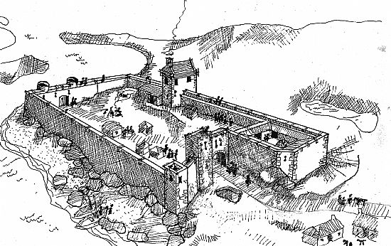 Tarbert Castle: Artist's impression, as at August 2019