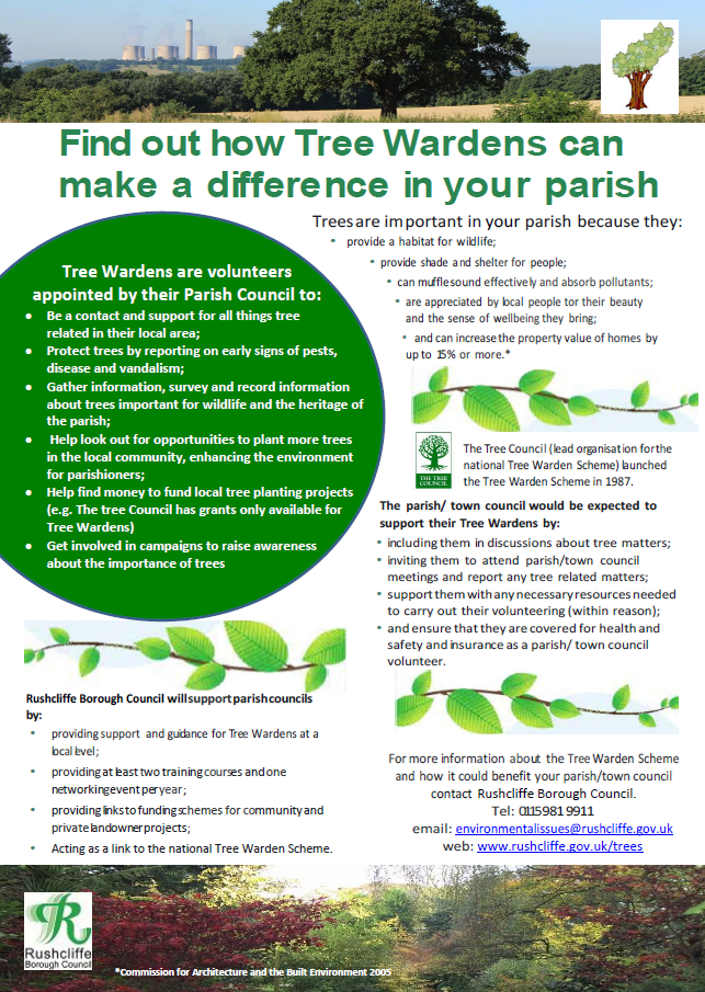 Flyer about Tree Wardens in Rushcliffe